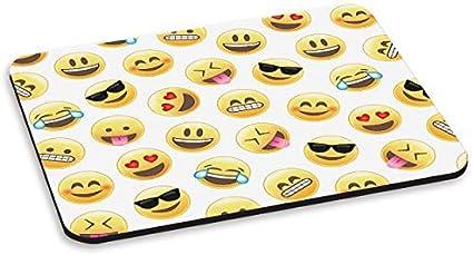 Emoji Caras Sonriendo Alfombra Ratón Ordenador PC - Divertido ...
