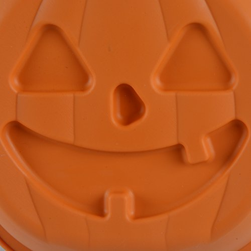 KinHwa Silicone Cake Mold for Baking Non-stick Baking Mold Shapes Easy to Clean Halloween Pumpkin Cake Pan Bakeware 3D by KinHwa (Image #1)