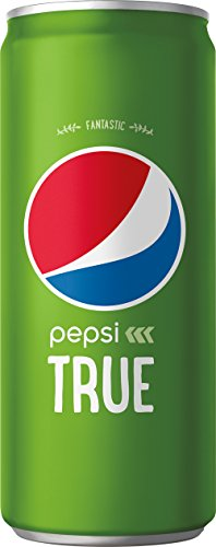 Pepsi True, Sweetened with Stevia and Cane Sugar, 10 Fluid Ounce Cans, 24 Cans by Pepsi