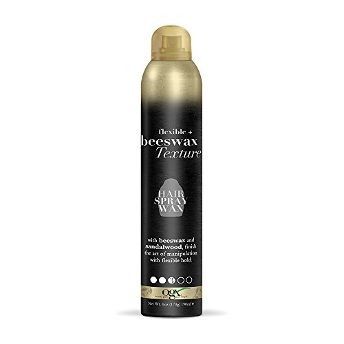OGX Flexible + Beeswax Texture Hair Spray Wax, 6 Ounce Bottl