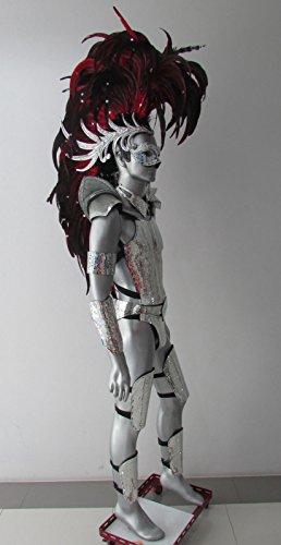 DaNeeNa Iron Hero Men Male Warrior Alien Indian Headdress Costume Set -