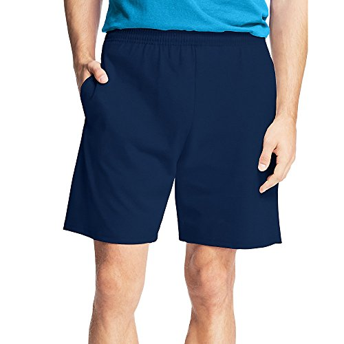 Hanes by Men's Jersey Cotton Shorts, Navy, (Cotton Thermal Shorts)