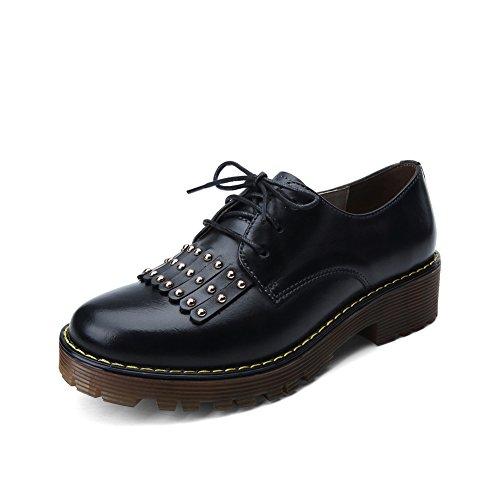 Viento de otoño de zapatos de mujer de Inglaterra/ oxfords suela gruesa/Brock A
