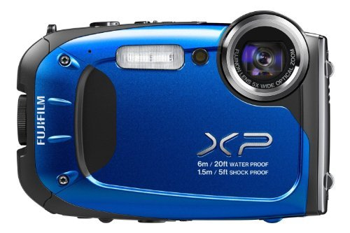 Fujifilm FinePix XP10 12 MP Waterproof Digital Camera with 5x Optical Zoom and 2.7-Inch LCD (Blue)