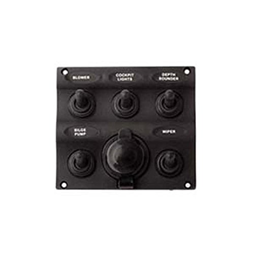 AMRS-424605-1 * Sea Dog Five Toggle Switch Panel with Power Socket by Sea Dog