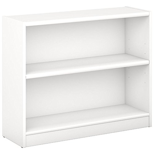 Pemberly Row 2 Shelf Bookcase in Pure White by Pemberly Row