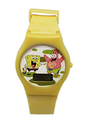 Yellow Digital Face Spongebob Squarepants Watch