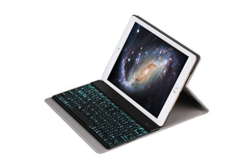 Slim Aluminum Wireless Bluetooth Keyboard For IOS Android PC + Leather Case Black - 5