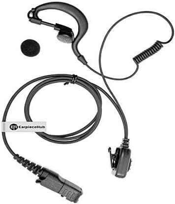 G Shape Headset XPR3300 XPR3500 DP2400 DP2600 DEP550 DEP570 MTP3250 MTP3200 Walkie Talkie Auricular con micr/ófono PTT para Motorola Mototrbo P6600