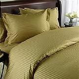 Egyptian Bedding 1000 Thread Count Egyptian Cotton 1000TC Twin Extra Long Sheet Set, Twin XL, Brown Stripe 1000 TC