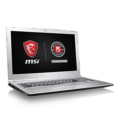 MSI PE62VR 7RF-836 15.6″ Professional Laptop i7-7700HQ GTX 1060 6G 32GB DDR4 512GB SSD M.2 SATA Win10 VR Ready, Aluminum Silver