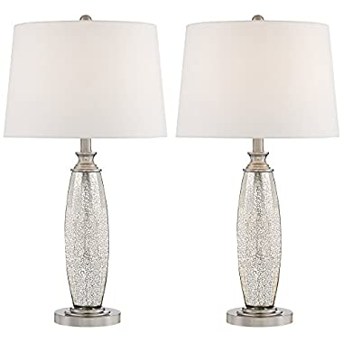 "Carol 28"" High Mercury Glass Table Lamps - Set of 2"