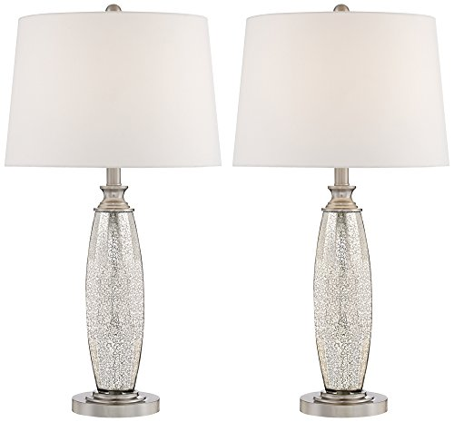 Carol Mercury Glass Table Lamps Set of 2 ()