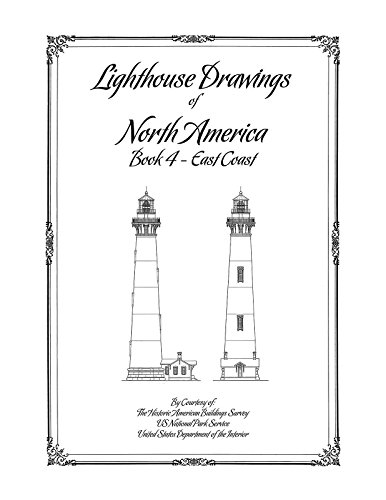(Lighthouse Drawings of North America, Book 4, East Coast)