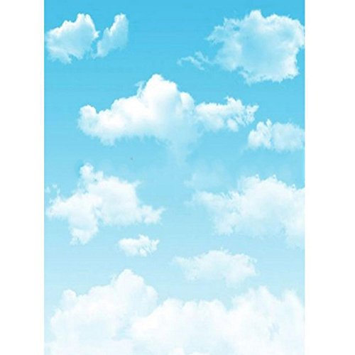 5x7ft cartoon Blue sky with white clouds newborn baby Background High-grade portrait cloth Computer printed photobooth Photo studio DD-L261