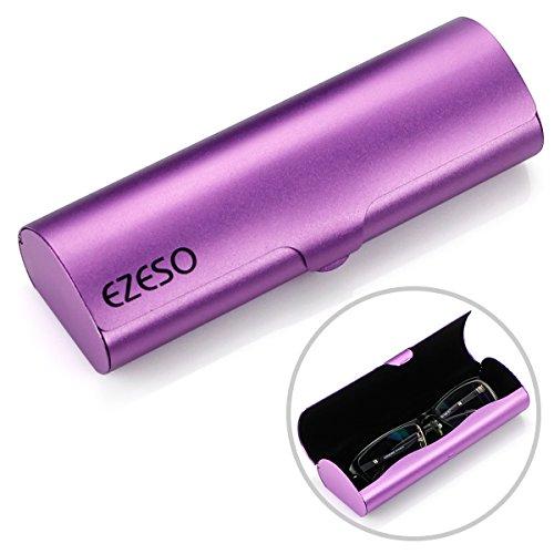 Aluminum Eyeglasses Case,EZESO Hard Shel - Elegant Purple Box Shopping Results