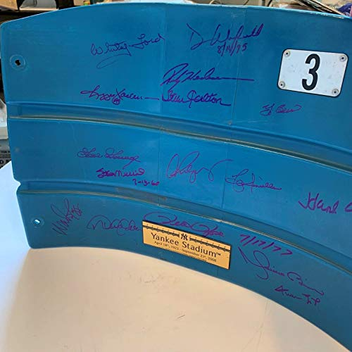 Seats Stadium Yankee - Derek Jeter Mariano Rivera Willie Mays Hank Aaron Signed Yankees Seatback W/COA