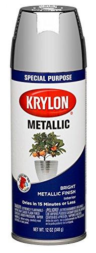Krylon K1404 Metallic Spray Paint, Chrome Aluminum (Pack ...