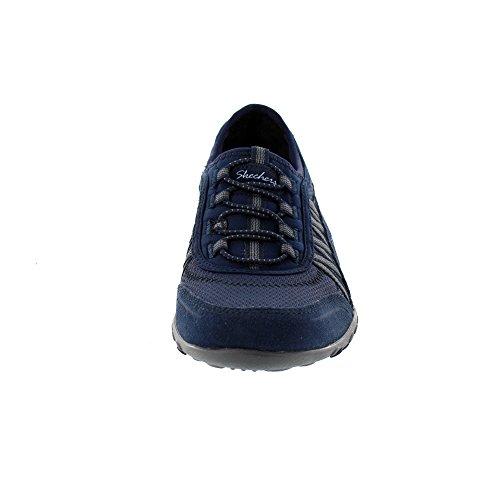 Skechers Damen Respirare Facile-punto Preso Sneaker Blau
