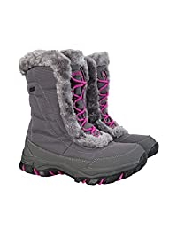 Mountain Warehouse Ohio Youth Snow Boots - Breathable, IsoDry Membrane with Durable Textile Upper & Rubber Outsole for Extra Comfort