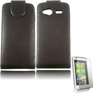 Voltear Concha Caso Cubrir Y Protector De Pantalla Para HTC Radar / Black