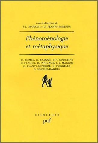 Livre gratuits en ligne Phénoménologie et Métaphysique pdf, epub