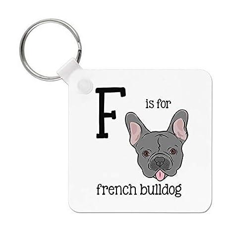 Gift Base Letra F Es para Bulldog Francés Llavero: Amazon.es ...