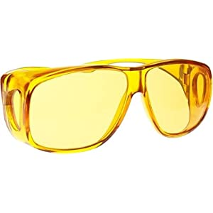 Fit Over Color Therapy Glasses, Poker Sunglasses - Yellow