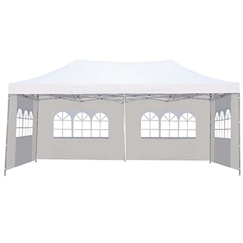 Klismos 10×20 Pop up Canopy Tent Outdoor Party Wedding Gazebos with Sidewalls White