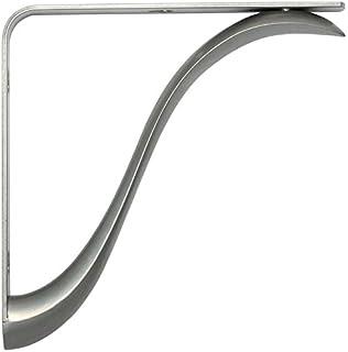 charleston 8 inch shelf bracket satin nickel