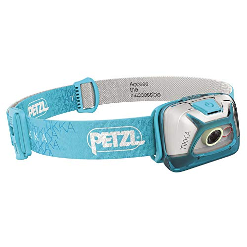 PETZL - TIKKA Headlamp, 200 Lumens, Standard Lighting, Blue
