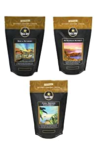 Medium Roast Gourmet Coffee Variety Pack, Includes Boca Sunrise, Sumatran Sunset & Cool Breeze Colombian, 100% Specialty Arabica, Ground, 8 oz. (3 Pack)