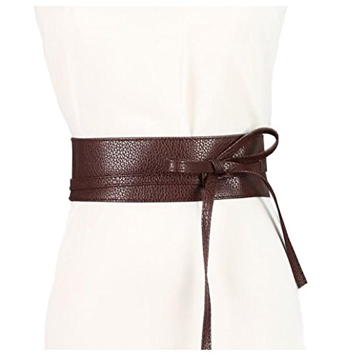 Lovful Ladys Faux Leather Obi Waistband Sash Belt Faux Leather Sash Belt
