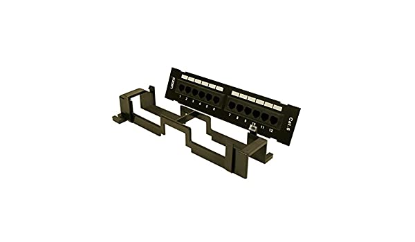 10 Pack GOWOS Cat.5E 110 Type Patch Panel 12Port Vertical w//Bracket