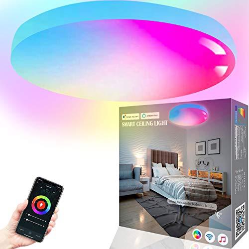 MikeWin Smart Ceiling Light Flush Mount LED WiFi