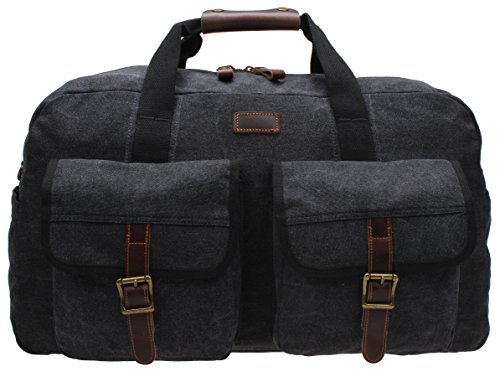 Canvas Travel Luggage Handbag Pocket