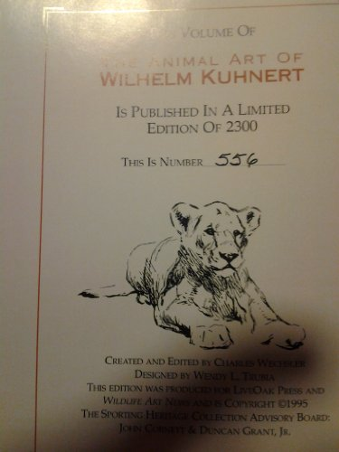 The Animal Art Of Wilhelm Kuhnert; The Complete Collection Of Etchings & Engravings