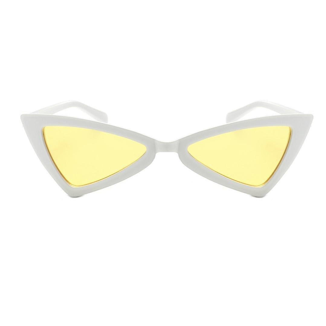 Kingfansion Retro Vintage Narrow Cat Eye Sunglasses for Women Clout Goggles Plastic Frame (B) Kingfansion-Sunglasses