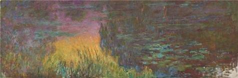 ポリエステルのキャンバス、アート装飾プリントキャンバスの油絵` water-lilies、設定Sun、1915–1916byクロード・モネ`、30x 91インチ/ 76x 231cmは最高のホーム装飾、ギフト、ダイニングルーム装飾の商品画像