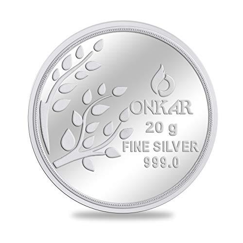 Onkar silver Coin 20gm Kalpataru Tree