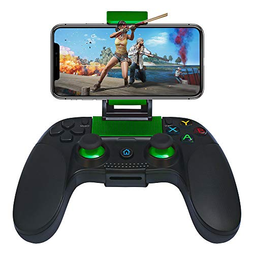 JmeGe Wireless Gaming Controller Gamepad for Android/iOS for Samsung S9 S10 Huawei P30 iPhoneX XR with Retractable Bracket Support 6-inch Mobile Phones (Best Wireless Controller For Android)