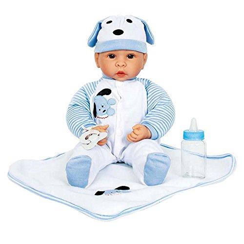 Small Foot by Legler Puppe mit Baby-Zubehör, fein gezeichnetes Gesicht, ein Muss für alle Puppenmuttis