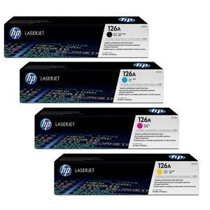 HP CE310A, CE311A, CE312A, CE313A, Color Toner Set for the M175nw, M275, CP1025nw Printers