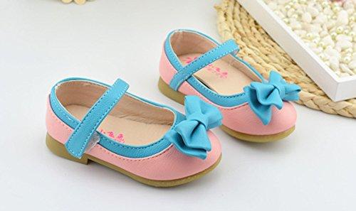Ballerina Kinderschuh Blau Festliche Kinder Pink Tanzschuhe Mädchen Schleife Süß Lukis Schuhe mit gxYfHH