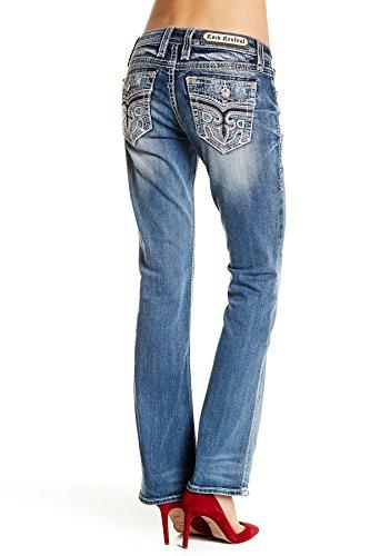 Rock Revival - Womens Anzelie Easy Boot Cut Jeans Denim (32, Medium ()
