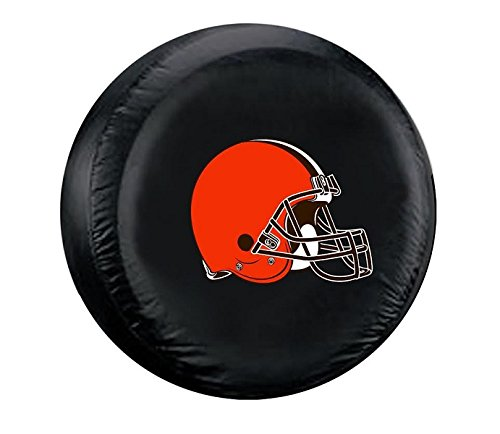 Fremont Die NFL Cleveland Browns Unisex Tire Covercleveland Browns Tire Cover Black, Standard Size ()
