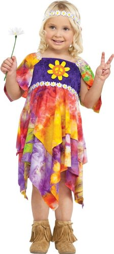[Daisy Hippie Costume - Large] (Tie Dye Dress Costume)