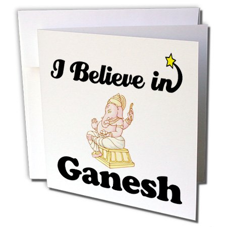Dooni Designs I Believe In Designs - I Believe In Ganesh - 6 Greeting Cards with envelopes (gc_105165_1)