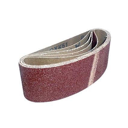Toolpak Cloth Sanding Belts 65 x 410mm 40 Grit Pack of 5