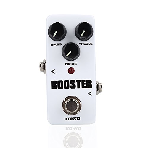 FBS2 Mini Booster Pedal, 2-Band EQ Control Guitar Pedal by VGEBY